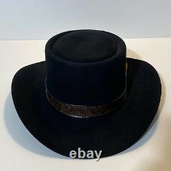 Stetson Revenger 4X Beaver Cowboy Western Hat, Black, 7-5/8, Vintage, F2080
