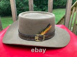 Stetson Revenger 4X Beaver Felt Cowboy Rancher Western Hat 7 Smoke Brown XXXX