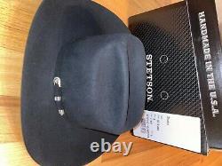 Stetson Shasta 10x Beaver Fur Felt Cowboy Hat Black