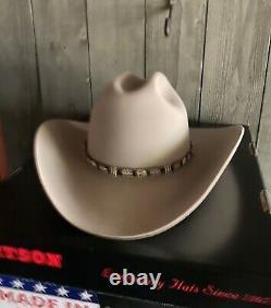 Stetson Shasta Beaver 10X Cowboy Hat Gray 7-3/8 New