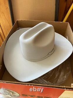 Stetson Skyline Silver Grey Beaver Fur Cowboy Hat 4 7 1/8