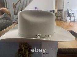 Stetson Skyline Silverbelly 6X Cowboy Hat Size 7.5 NICE
