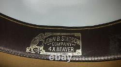 Stetson Stampede Western Cowboy Hat Color Acorn 7 1/8 4X Beaver F2040 USA Made