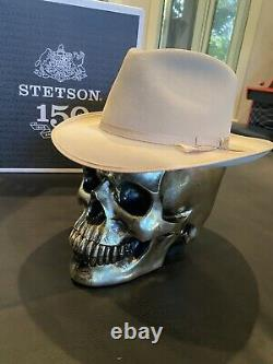 Stetson Stratoliner Silverbelly Cowboy Fedora hat 7 3/8 size 2 1/2 Brim