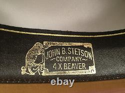 Stetson Vtg. 1980's Men's Med. Light Brown 4X Beaver Felt Cowboy Hat, Size 7 1/8