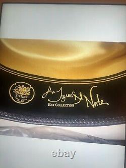 Stetson cowboy hat 100X SIZE 7 1/8 LOS TIGRE DEL NORTE EDITION SILVER BELLY BOX