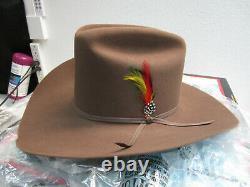 Stetson's Mens 4x Beaver Acorn Color Cowboy Western Hat In Box 7 1/8