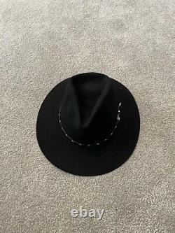 The Gun Club Black 4X XXXX By Stetson Western Cowboy Hat Size 7 1/8 VINTAGE NEW