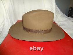 UTIMATE STETSON #F2040 STAMPEDE 4X acorn BEVER FELT WESTERN COWBOY HAT-7 1/8&BOX