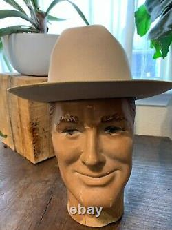VERY COOL! Vintage Stetson OPEN ROAD STYLE 3X BEAVER Silverbelly 7 1/8