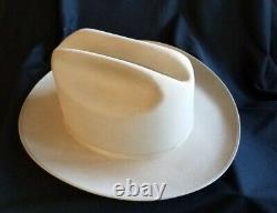 VINTAGE JOHN B STETSON 3X BEAVER XXX COWBOY GENTLEMEN'S OPEN ROAD HAT Size 7