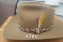 VTG 1981 STETSON 3X Beaver Winchester Limited Ed XXX Cowboy Western Hat 7 1/8