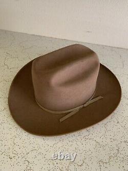 VTG 60s TRAIL BLAZER OPEN ROAD TYLER TEXAS Beaver Felt 7 1/4 Cowboy Hat FEDORA