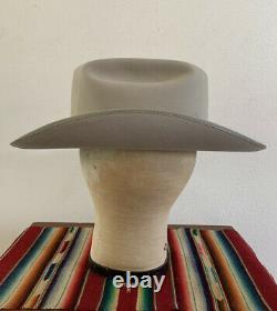 VTG 70s The WESTERNER OPEN ROAD Beaver Felt 7 3/8 SILVERBELLY Cowboy Hat FEDORA