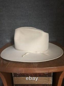 Vintage 1960s Stetson 7X Wormser Fur Felt Wide Brim Western Cowboy Hat 7 3/8