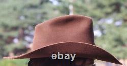 Vintage 5x BEAVER COWBOY HAT brown western Cimmaron TX Sheplers 7 3/8 XXXXX