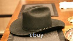 Vintage 6 3/4'Beaver Hats' Cowboy Beaver Fur Felt Hat Raw Edge