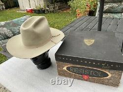 Vintage 60s Resistol SHERIFF SilverBelly 3X Beaver 7-1/8 + box