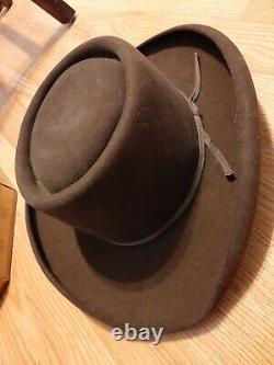 Vintage American Hat Co. Felt Western/Cowboy Hat with Knox New York Hat Box
