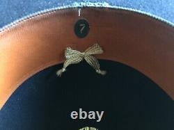Vintage Antique American 1900s Fedora Beaver Felt Bowler Cowboy Hat 7 SASS
