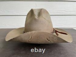 Vintage Antique Cavalry Scout 7X Beaver Felt 7 1/4 Cowboy Gus Rugged Hat 58cm