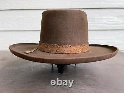 Vintage Antique Custom Clint Eastwood Cowboy Hat 7 1/8 Western Pencil Curl Brim