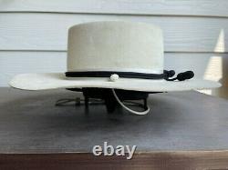 Vintage Antique Rugged Old West Eddy Bros Cowboy Hat 7 1/4 Clint Eastwood 58cm