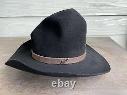 Vintage Antique Rugged Old West Resistol Cowboy Hat 7 1/8 Open Range Tom Mix Gus