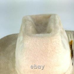 Vintage Biltmore Grand Beaver Long Hair Stetson Cowboy Hat Sz 7 1/8 With Box