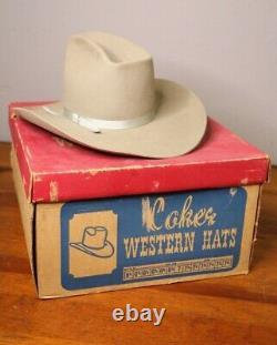Vintage Coker Western Cowboy Hat Clint Eastwood John Wayne with Box ranch wear