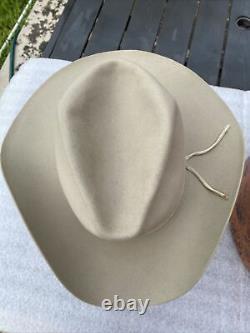 Vintage Excellent Stetson 1950s Wide Brim 3X Beaver Taupe 7-1/8 Cowboy Custom