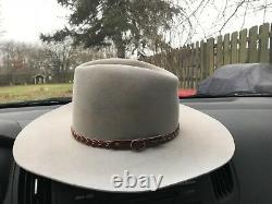 Vintage John B. Stetson 4X Beaver Tan 7 1/8 Cowboy Hat