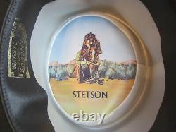 Vintage John B Stetson Company Union Made 3X Beaver Brown Size 7 1/8 Brim 3'