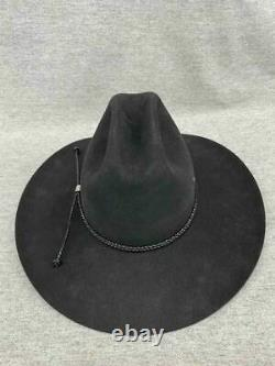 Vintage John B. Stetson XXXX 4X Beaver Black Cowboy Size 7 5/8 Long Oval