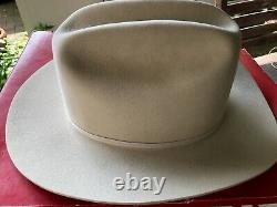 Vintage John B. Stetson XXXX 4X Beaver Tan Cowboy Hat 7.25 (7 1/4) Long Oval