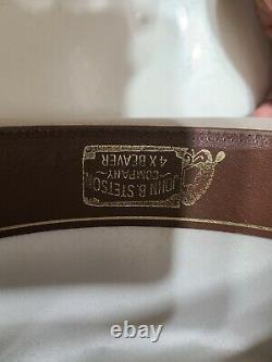Vintage John B. Stetson XXXX 4X Beaver Tan Cowboy Size 7 1/8 Long Oval