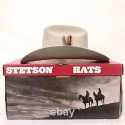 Vintage John B. Stetson XXXX 4X Beaver Tan Cowboy Size 7 Long Oval