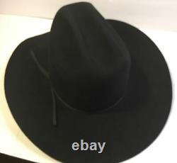 Vintage RESISTOL 7 XXXXXXX Cattleman Black Sz 7 3/8 Cowboy Hat