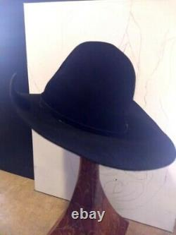 Vintage Resistol 20X Black Gold Beaver Fur Long Oval Western Cowboy Hat