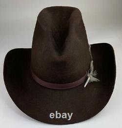 Vintage Resistol 3X Beaver Felt 7 1/4 Gus Vintage Old West Western Cowboy Hat