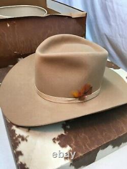 Vintage Resistol Beaver Cowboy Hat (7 1/8 brown) In Original Box