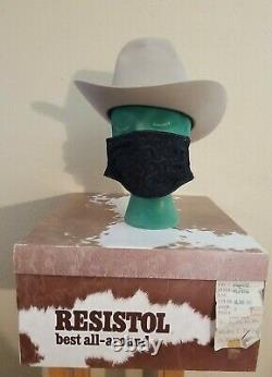 Vintage Resistol Self-Conforming XDoubleX Plains Beaver Cowboy Hat Size 7 1/8