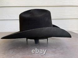 Vintage Rugged 20X Beaver Felt Resistol Bull Rider Rodeo Cowboy Hat 7 1/8 Black