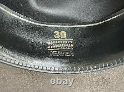 Vintage Rugged 30X Beaver Felt Resistol Bull Rider Rodeo Cowboy Hat 7 1/4 Gray