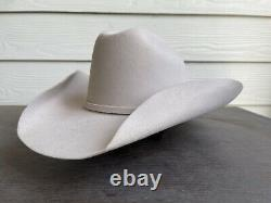 Vintage Rugged 50X Bull Rider Rodeo Cowboy Hat 7 1/4 Beige Texas Rancher