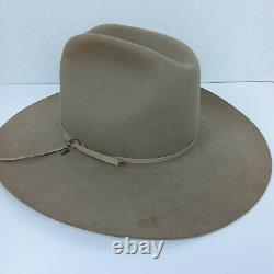 Vintage STETSON Cowboy Western Hat 4X Beaver 7 1/4 withBox Hat Band with JBS Pin