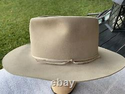Vintage Stetson 1940s John Wayne 3 Godfathers 3X Beaver Taupe 7-1/4 Original Box