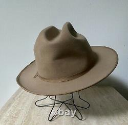 Vintage Stetson 1970s Stetson Open Road 4X Beaver Taupe Size 7 5/8