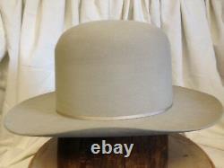 Vintage Stetson 3X Beaver DeadStock Porters Mens Gray Fur Felt Cowboy Hat Size 7