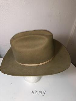 Vintage Stetson 4X Beaver Cowboy Western Hat Taupe Brown 7 1/4 Long Oval No Box
